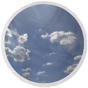 Summertime Sky Expanse Round Beach Towel by Arletta Cwalina