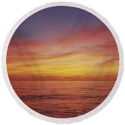 Sunset Over A Sea, Gulf Of Mexico Round Beach Towel by Panoramic Images