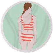 Swim Round Beach Towel by Nicole Wilson