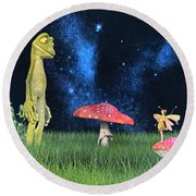 Tall Tales Round Beach Towel by Betsy Knapp