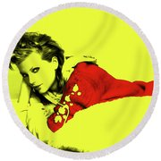 Taylor Swift 10r Round Beach Towel by Brian Reaves