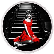 Taylor Swift 8c Round Beach Towel by Brian Reaves
