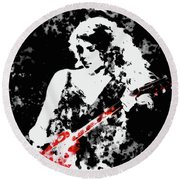 Taylor Swift 90c Round Beach Towel by Brian Reaves
