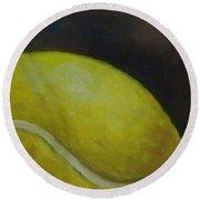 Tennis Ball No. 2 Round Beach Towel by Kristine Kainer