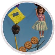 Tenuous Still-life 2 Round Beach Towel by James W Johnson