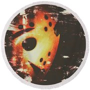 Terror On The Ice Round Beach Towel by Jorgo Photography - Wall Art Gallery