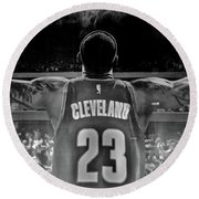 Thanks Lebron Round Beach Towel by Frozen in Time Fine Art Photography