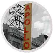 The Apollo In Harlem Round Beach Towel by Danny Thomas