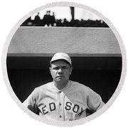 The Babe - Red Sox Round Beach Towel by International  Images