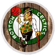 The Boston Celtics 2a Round Beach Towel by Brian Reaves