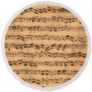 The Brandenburger Concertos Round Beach Towel by Johann Sebastian Bach