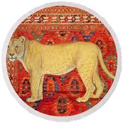 The Carpet Mouse Round Beach Towel by Ditz