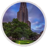 The Cathedral Of Learning Round Beach Towel by Rick Berk