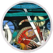 The Dream Of The Fish Round Beach Towel by Annael Anelia Pavlova