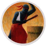 The Drummer Round Beach Towel by Tilly Willis