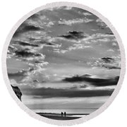 The End Of The Day, Old Hunstanton  Round Beach Towel by John Edwards