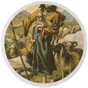 The Good Shepherd Round Beach Towel by English School