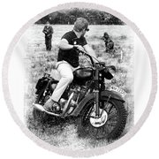 The Great Escape Round Beach Towel by Mark Rogan