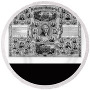 The Great National Memorial Round Beach Towel by War Is Hell Store