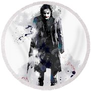 The Joker Round Beach Towel by Marlene Watson