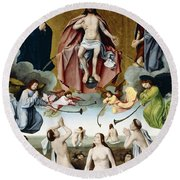 The Last Judgement Round Beach Towel by Jan Provost