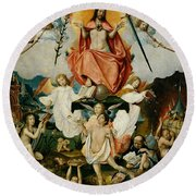 The Last Judgment Round Beach Towel by Jan Provost