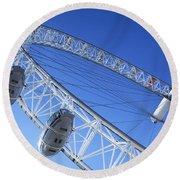 The London Eye, Close-up Round Beach Towel by Simon Kayne