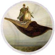 The Magic Carpet Round Beach Towel by Apollinari Mikhailovich Vasnetsov