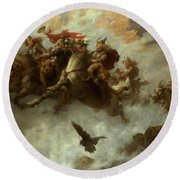 The Ride Of The Valkyries  Round Beach Towel by William T Maud