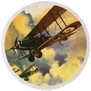 The Royal Flying Corps Round Beach Towel by Wilf Hardy
