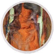 The Sorceress Round Beach Towel by Henry Meynell Rheam