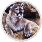 The Source Iv Round Beach Towel by Sandi Baker