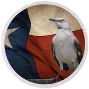 The State Bird Of Texas Round Beach Towel by David and Carol Kelly