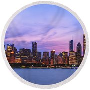 The Windy City Round Beach Towel by Scott Norris