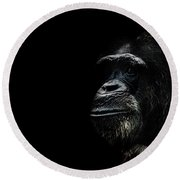 The Wise Round Beach Towel by Martin Newman