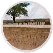 Round Beach Towel featuring the photograph Their Name Liveth For Evermore by Travel Pics
