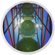 Lunchtime Ferris Wheel Round Beach Towel by Heidi Hermes