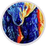 Thin Ice Round Beach Towel by Derrick Higgins