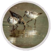 Three Together Round Beach Towel by Marvin Spates
