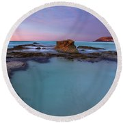 Tidepool Dawn Round Beach Towel by Mike  Dawson