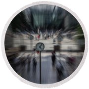 Time Traveller Round Beach Towel by Martin Newman