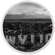Timeless Classic Round Beach Towel by Art K