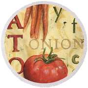 Tomato Soup Round Beach Towel by Debbie DeWitt