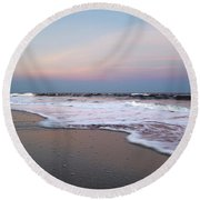 Topsail Dome-esticated Evening Round Beach Towel by Betsy Knapp