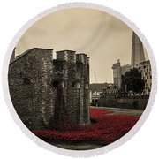 Tower Of London Round Beach Towel by Martin Newman