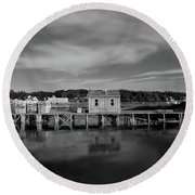 Tremont, Maine No. 23-1 Round Beach Towel by Sandy Taylor