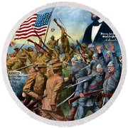 True Sons Of Freedom -- Ww1 Propaganda Round Beach Towel by War Is Hell Store