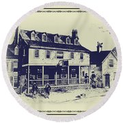 Tun Tavern - Birthplace Of The Marine Corps Round Beach Towel by Bill Cannon