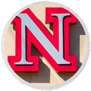 UNL Round Beach Towel by Jerry Fornarotto