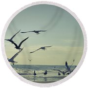 Up Up And Away Round Beach Towel by Laura Fasulo